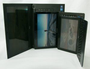 Dell Insprion14とlenovo S205、ASUS H100TAのサイズ比較