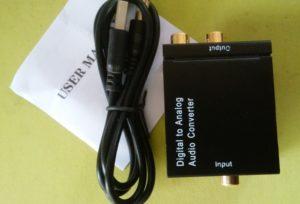 デジタル→アナログオーディオコンバーター Digital to Analogオーディオ変換器 トスリンク 同軸端子入力