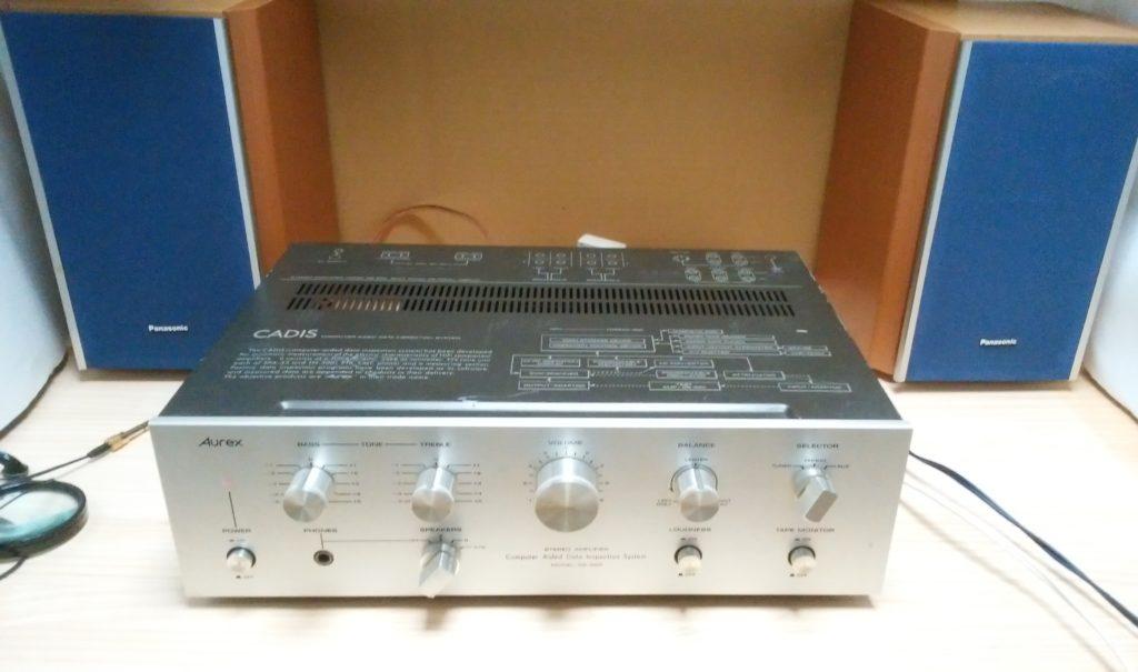 Toshiba Aurex SB-220 ジャンク オールドアンプ 動作確認中