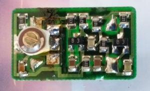 CXO-050C 9.9532MHz KSS JAPAN の 水晶を取り外す