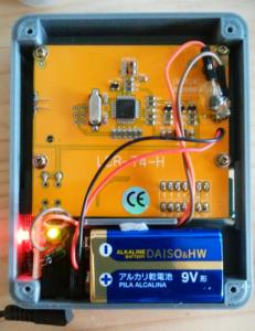 LCR-T4 プチ改造電池とACアダプターで使用できます
