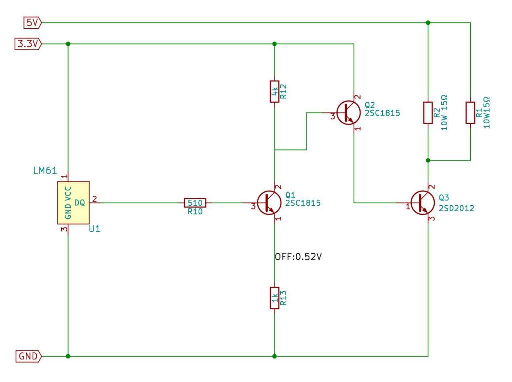 OCXO用 52℃ Simple Ovenの回路図 fix