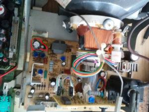 HP 54600A 垂直同期回路修理