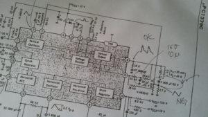 HP 54600A CRT垂直同期信号 uPC1379C