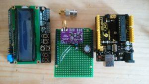 Si5351Aクロックジェネレータで、シールドボード使いパルスジェネレータの作成