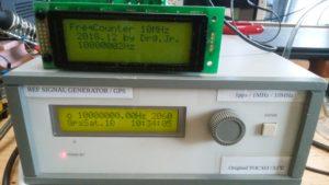 基準クロック発生器 と オーバークロック動作確認中のArduino 25MHz