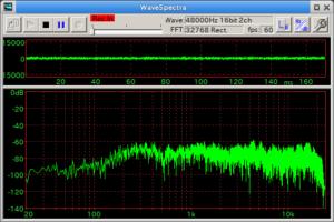 ホワイトノイズをPanasonic AG-MC200で取り込んだ結果