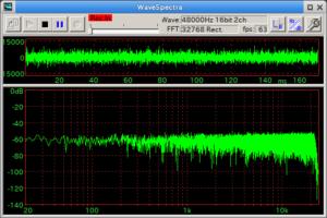 ホワイトノイズをM-Audio AUDIOPHILE 192内部折り返し